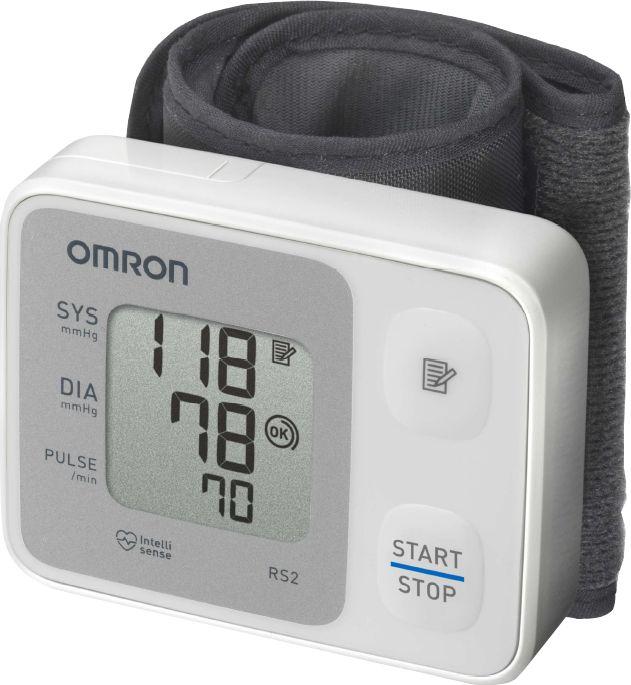 OMRON RS2 csuklós vérnyomásmérő - Kompakt, könnyen használható, oszcillometrikus elven működő vérnyomásmérő. Gyorsan és egyszerűen méri a vérnyomást és a pulzusszámot.