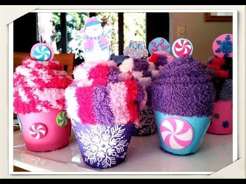 Last Minute DIY Mother's Day Gift - Pampering Set with Sock Cupcakes & Towel Swiss Roll - YouTube