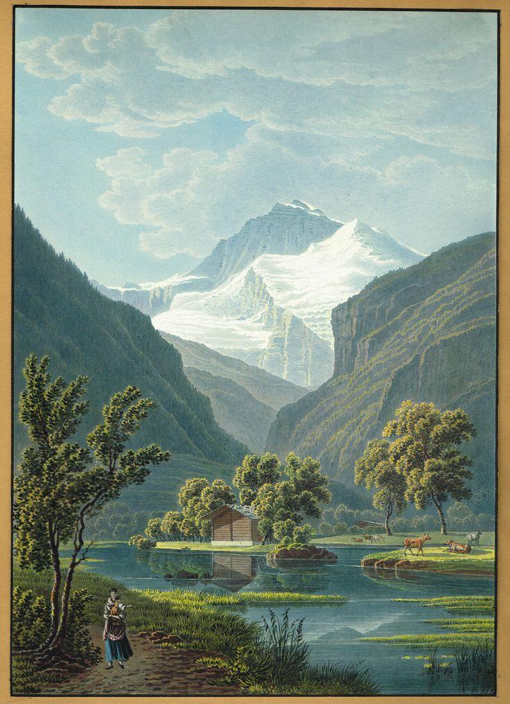 La Jungfrau - Aquatinte XIXe - MAS Estampes Anciennes - MAS Antique Prints