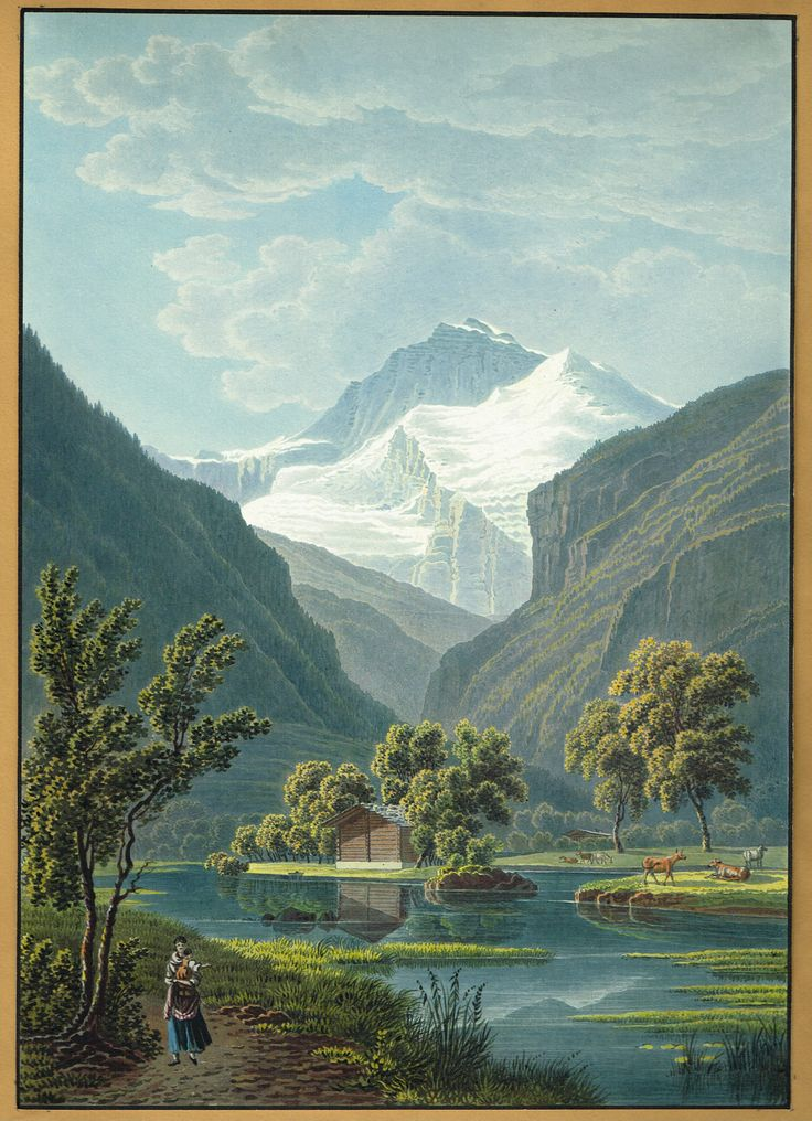 La Jungfrau - Aquatinte XIXe - MAS Estampes Anciennes - MAS Antique Prints