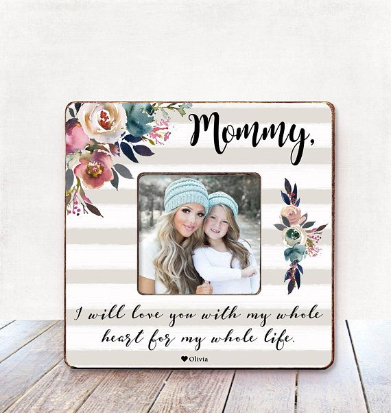 Mothers Day Gift for MOM Personalized Picture Frame Mothers Day ...