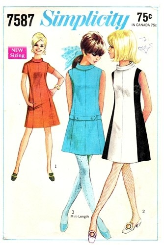 1968 Simplicity mod dress...I'm pretty sure my Mom had this pattern!