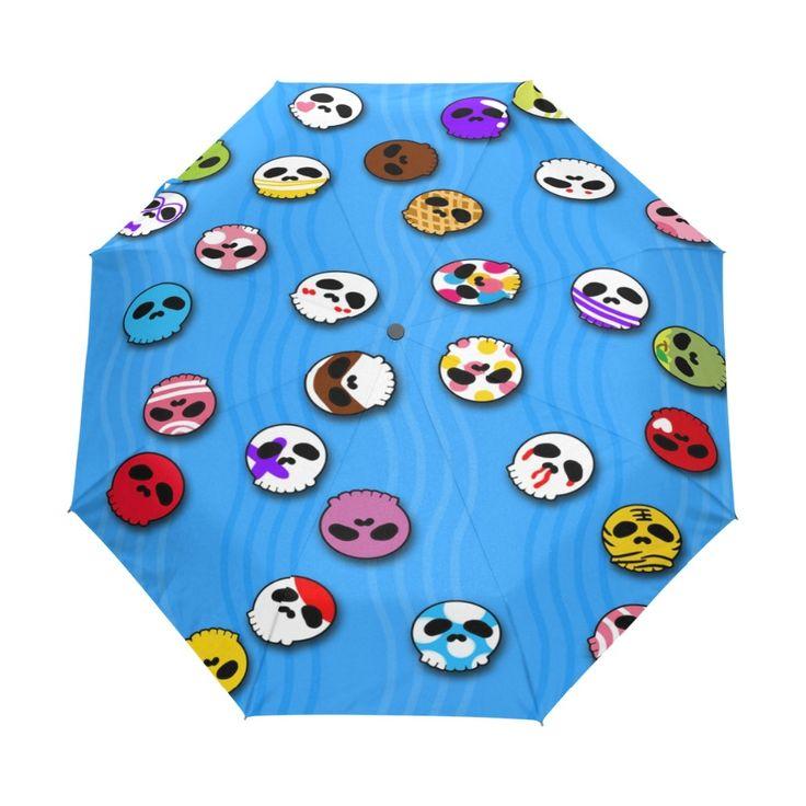 3 Folding Fashion Automatic Umbrella Men Halloween Umbrellas/ Anti-UV Sun/Rain Umbrella Parasol SunshadeParasol Gift
