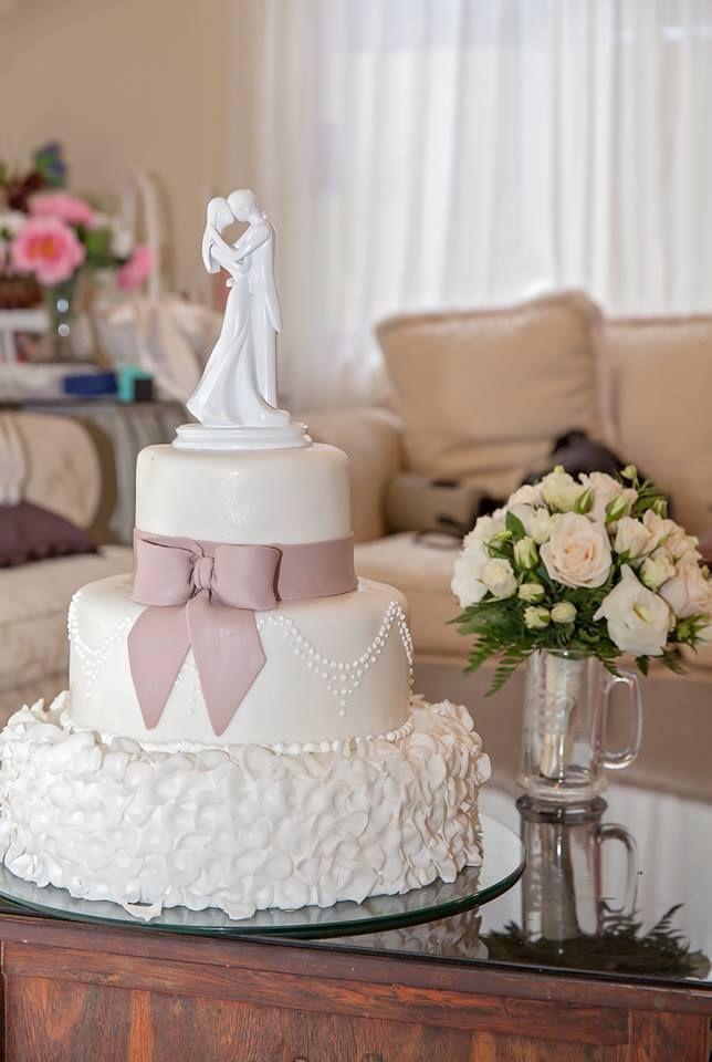 pastel para boda  con cubierta de fondant