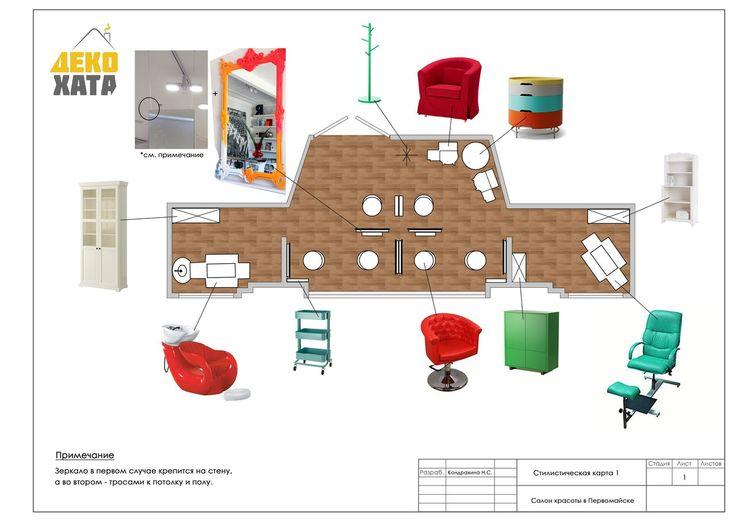 Стилистическая карта по подбору мебели для салона красоты в Первомайске. Выбранный стиль - авангард. Для салона красоты, кажется то, что надо! #декохата #дизайнинтерьера #дизайнсалонакрасоты #decohata #designinteriorukraine