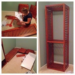Assembling Lowes' Allen + Roth closet organizers -- tips, hints, and hacks from a couple who's done. Includes video.