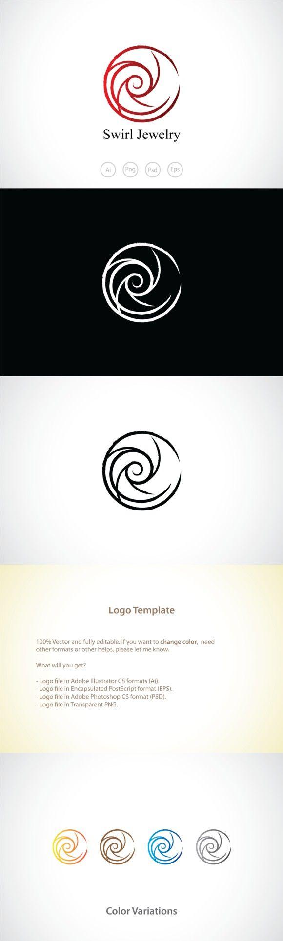 Swirl Circle Logo Template