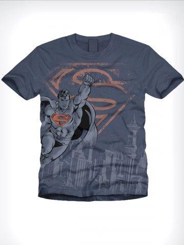 Buy T-Shirts Online | Superman Series Sallow Blue T shirt | BIO-222 | cilory.com