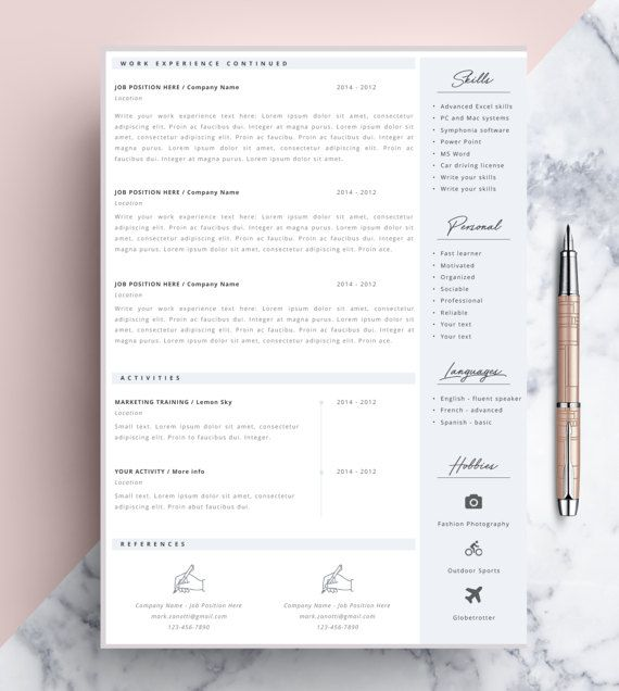 => PROMOCODE: 2 resumes for 18$ USD, use code RESUME <= Welcome to the CvDesignCo! Every Resume we design is remarkable. We believe that our work will significantly increase your chances to get a job you want. > How it works? Its easy! After purchase you can instantly download the