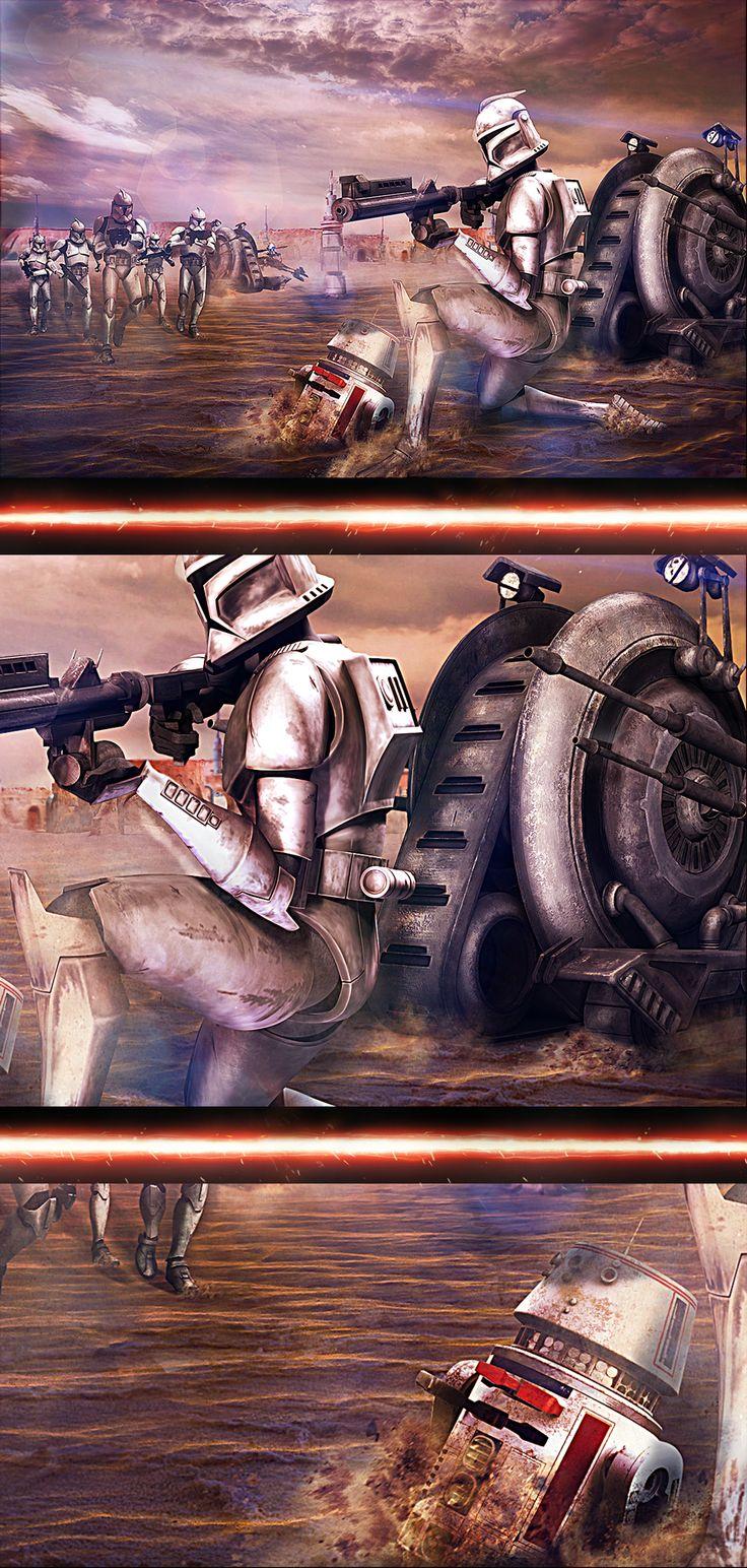 """Cree un escenario  de la pelicula Star Wars, donde los personajes principales son los """"Stormtroopers"""""""