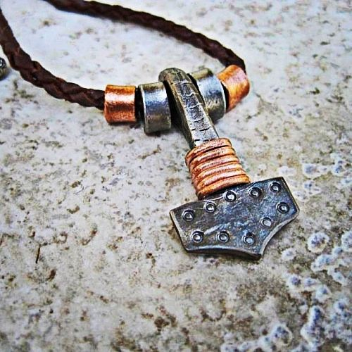 "olsonironworks: ""When someone says ""God Bless You"" I feel it's acceptable to choose your own God from whom you want to receive the blessing from. Mjölnir pendant created at www.olsonironworks.com """