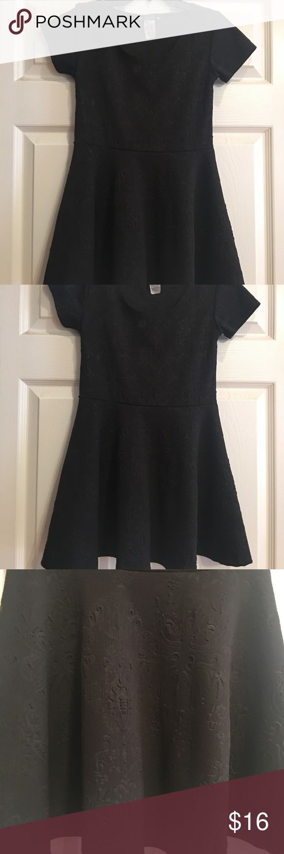 Black circle skirt dress.  Girls 10 Black circle skirt dress.  Perfect condition.  Worn once.  Girls size 10 Dresses Casual