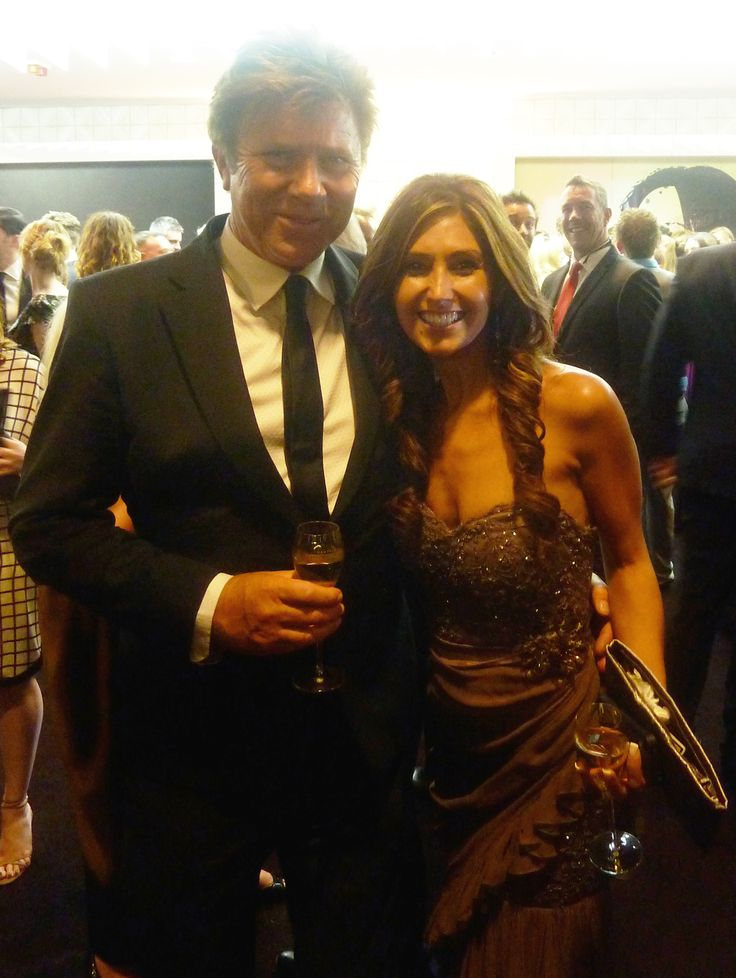 Me (Katrina Kavvalos) with Richard Wilkins (The Today Show host) - at the AACTA awards in Sydney