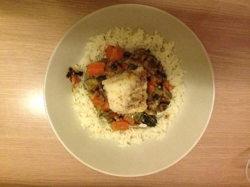 Lotte mijotée au curry de légumes , Recette de cuisine Marmiton  une  recette