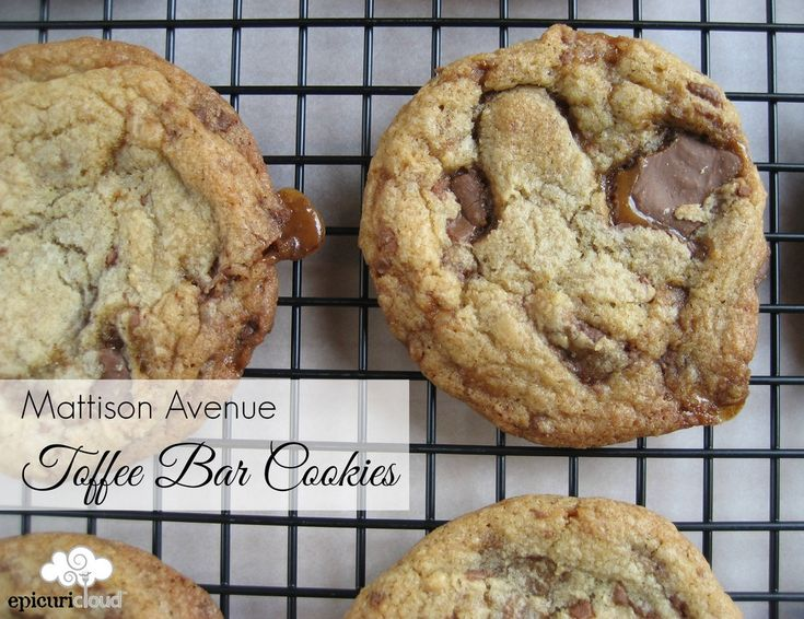 Mattison Avenue Toffee Bar Cookies Recipe — epicuricloud