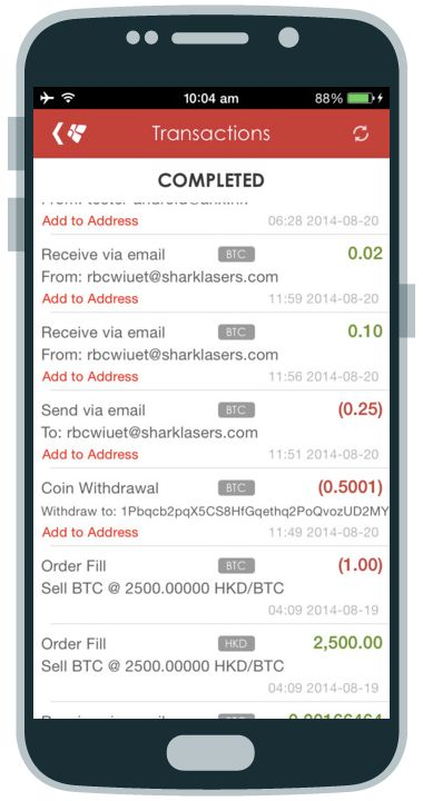 #ANX #mobile #wallet #money #bitcoins #Android #application #fintech #finance