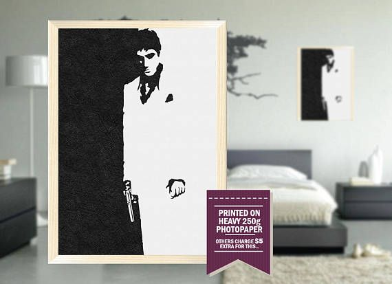 Scarface poster fan art scarface print Scarface art pencil