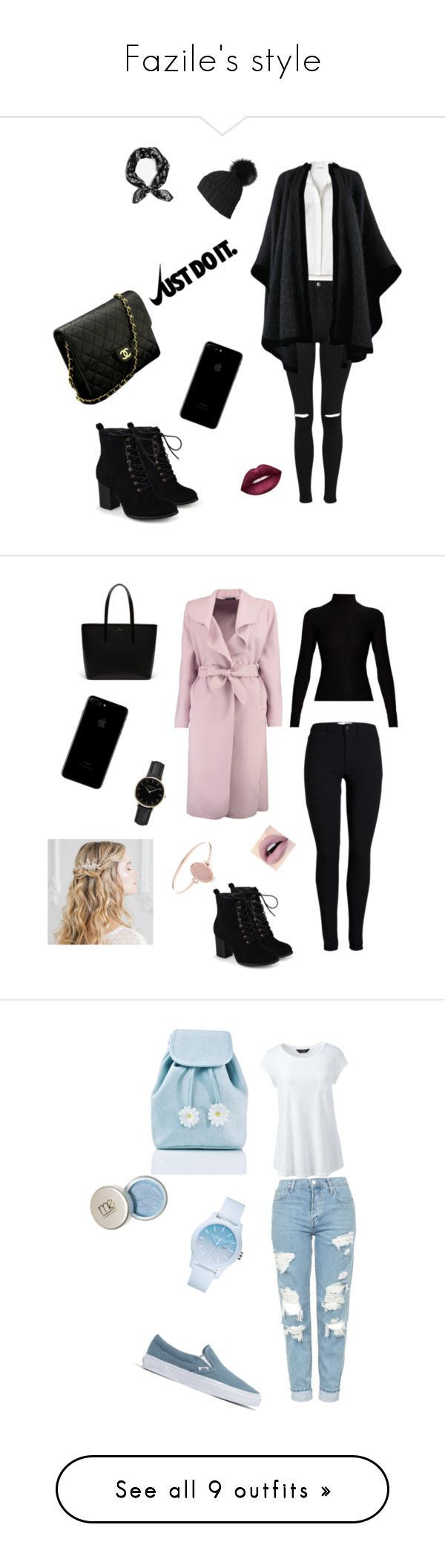 """Fazile's style"" by fazilebrahimi on Polyvore featuring Topshop, Lacoste, rag & bone, Journee Collection, Chanel, Black, Lime Crime, Yves Saint Laurent, NIKE and outfit"