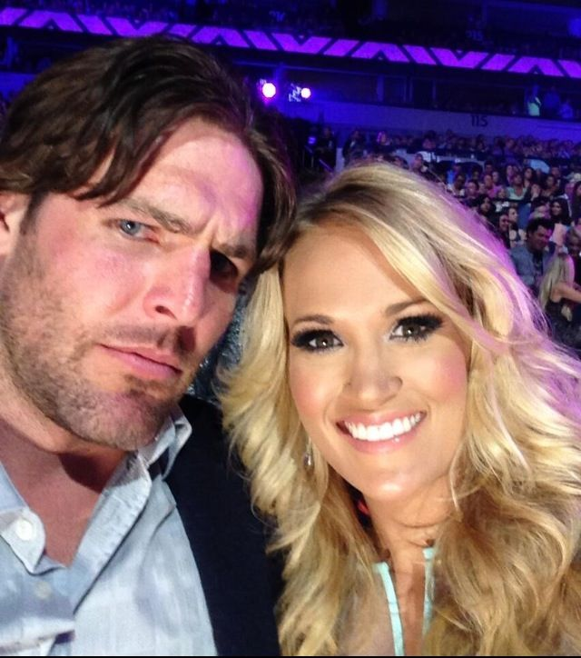 Mr. & Mrs. Carrie Underwood ...er...Mike Fisher!!!! #12 Nashville Predators ❤