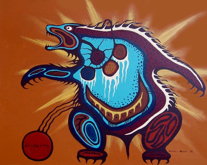 Medicine Bear by Ojibwe Medicine Painter Carl Ray