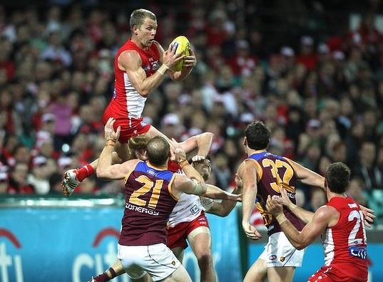 AFL, Sydney Swans, Brisbane Lions, Mark
