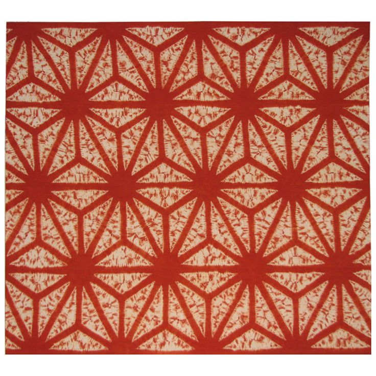 Shibori futon cover, resist dyed with Japanese madder (rubia akane) to achieve this brilliant color./ Early 20th century, Japanese / at 1stdibs