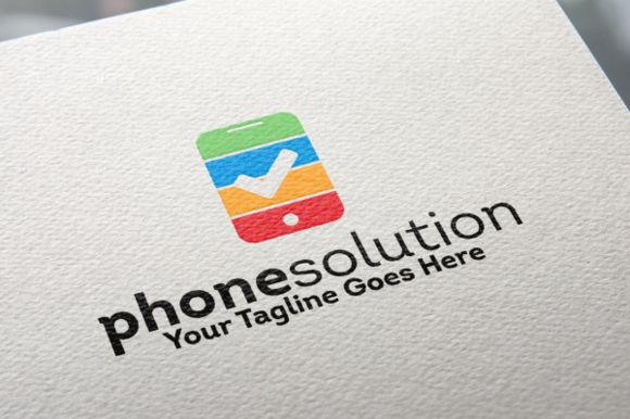 Phone Solution Logo by REDVY on Creative Market