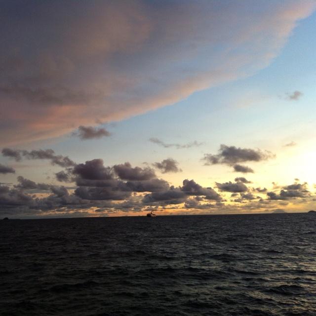 Somewhere in the Sunda Strait, Lampung, Indonesia..