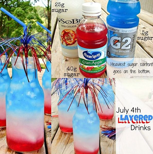 Make a layered drink. | The Ultimate Summer Bucket List For Bored Kids