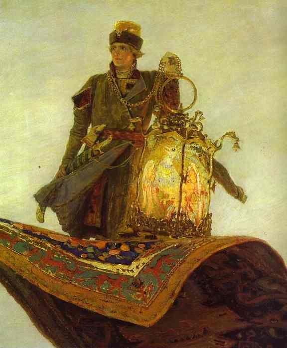 The Magic Carpet. Detail Victor Vasnetsov