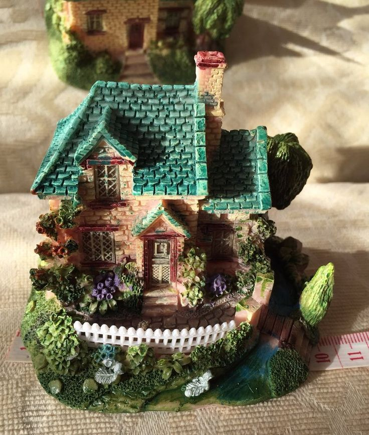 Hand-painted Resin Miniature House Ornaments (Small) | eBay