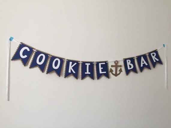 Cookie Bar Nautical Banner Nautical Candy Bar by HoneygoDesigns