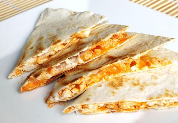 Gemakkelijke Mexicaanse Quesadilla met kip en kaas