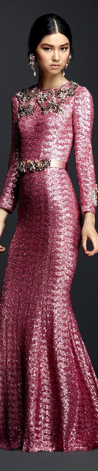 Pink:  #Pink Gown ~ Dolce & Gabbana, Summer 2016.