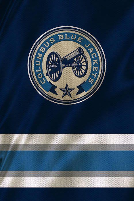 Columbus Blue Jackets Uniform Print By Joe Hamilton
