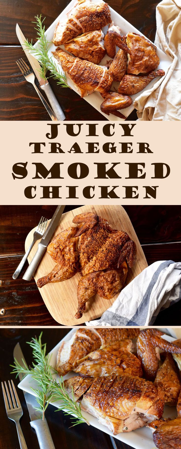Juicy Traeger Grill Smoked Chicken - Sweet Somethings