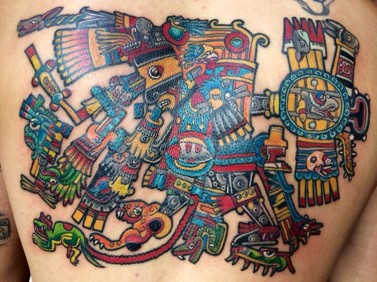 50 Symbolic Mayan Tattoo Ideas – Fusing Ancient Art with ... |Mayan Tattoo Color