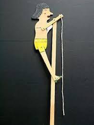 Resultado de imagen para Retro de juguete de madera volteretas acrobático payaso