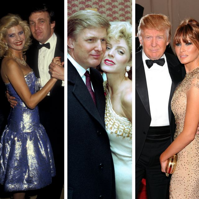 The three Mrs. Trumps: Ivana Trump (left), Marla Maples (center) and Melania Trump.