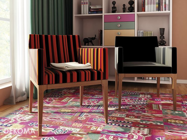 Fixer is a universal mélange upholstery fabric in a wide range of natural colors starting from natural colors up to vivid energetic hues. It can be used on its own or combined with Fix fabric decorated with stripes of various width. #interiors #design #decorations #fabrics #upholstery #stylish #strips