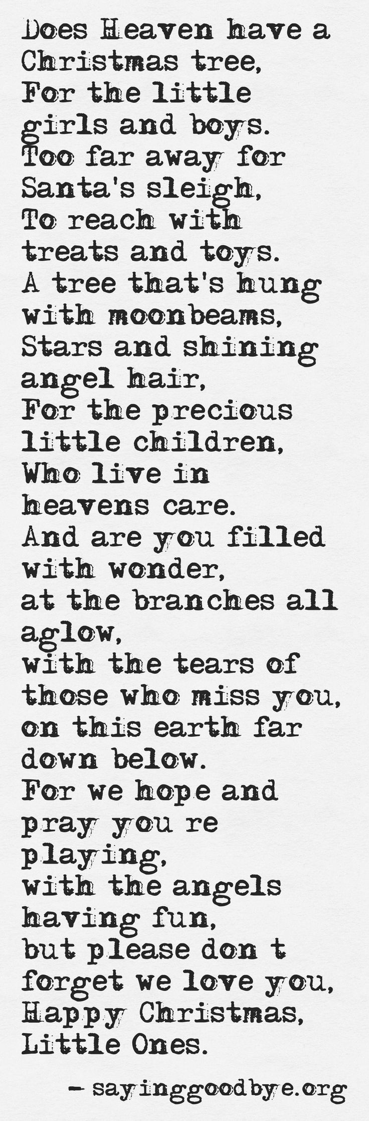 For Noah and the little ones I never got to know..CLP