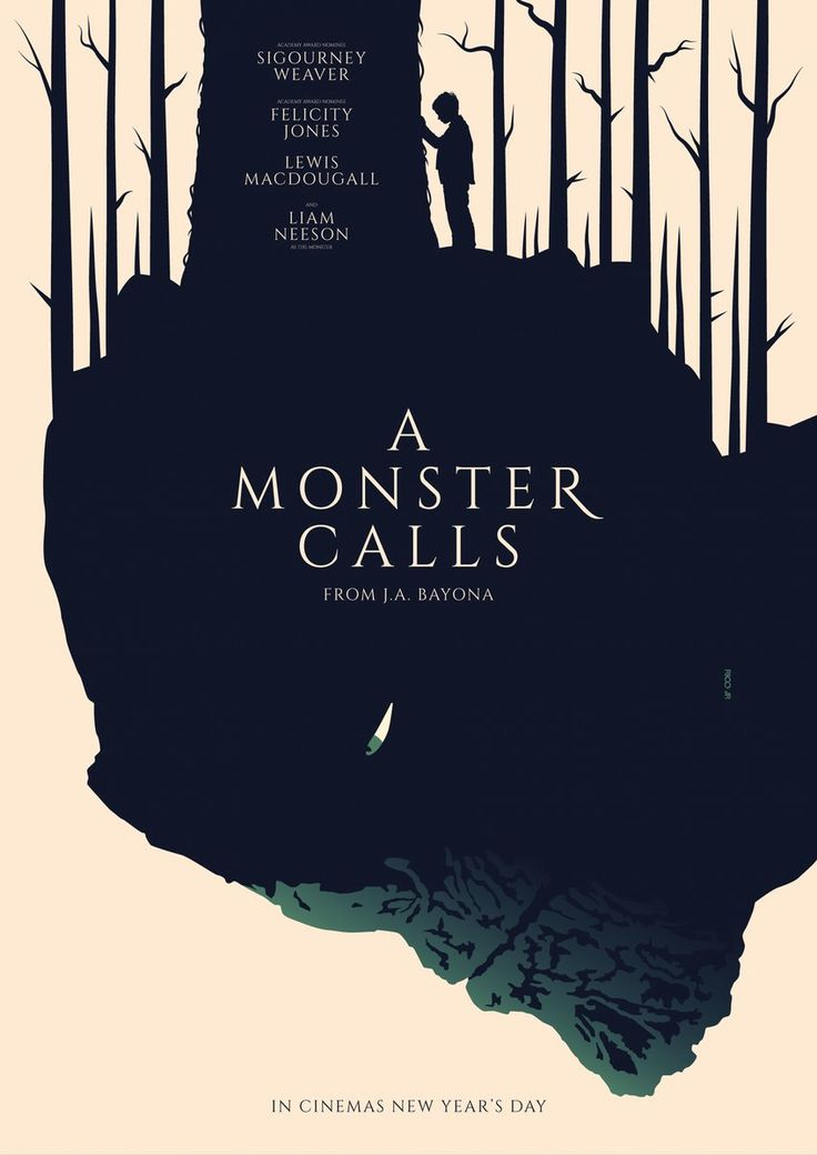 A Monster Calls ‏ #alternative #movie #posters #art