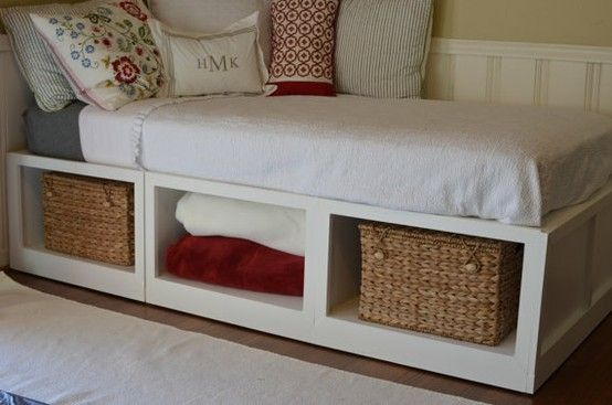 Diy Twin Bed Frame With Storage Twin Bed Storage