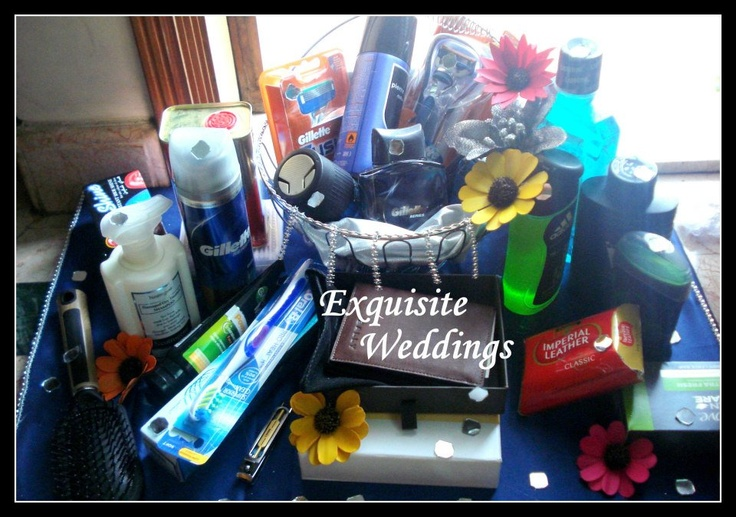 groom's toiletries and accessories