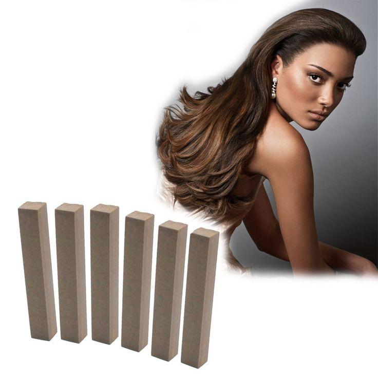 Coconut Brown hair Dye | HOT COCOA 6 brown hair chalks | HairChalk  Dark Brown Hair Color for your temporary hair dying fun! A complete 6 Hair Chalk Coconut Brown hair kit