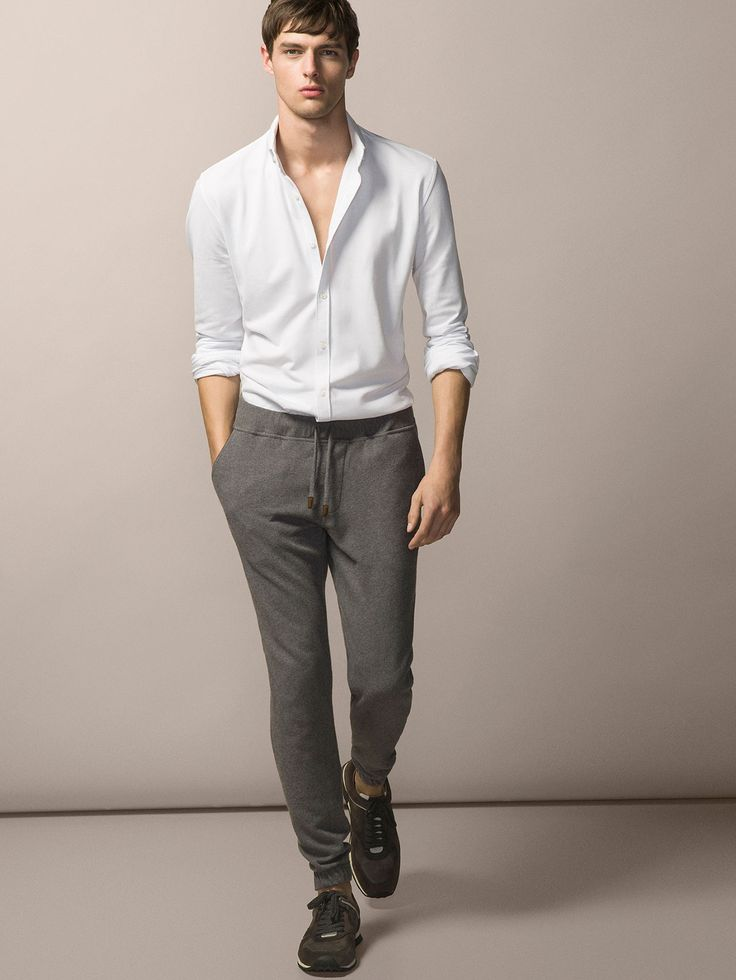 071914acfb JOGGING TROUSERS WITH SUEDE DETAILS - MASSIMO DUTTI .
