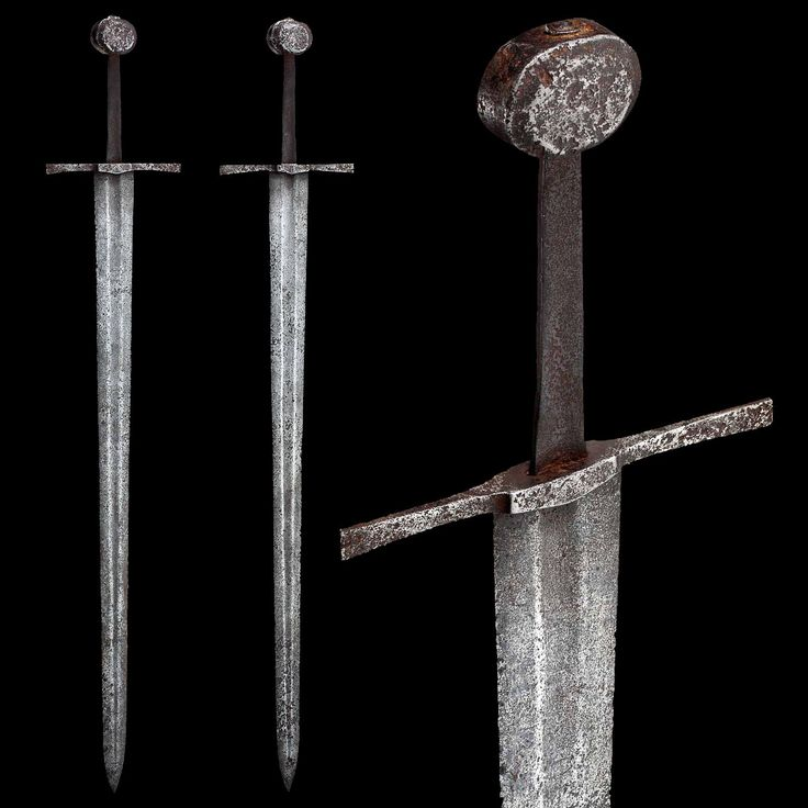 An Italian Knightly Sword, 2nd half of the 14th century  Overall length: 100.5 cm ; Blade length: 82 cm ; Weight: 1105 g   Provenance: Camaldoli Monastery, Province Arezzo/Tuscany.  Copyright © Hermann Historica Auction House