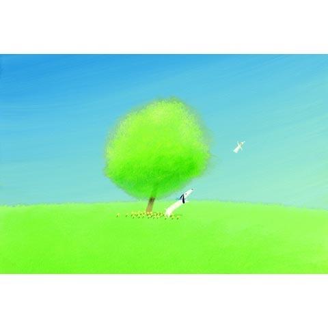 葉祥明  アートグラフ【ジェイクと空気の精】太子サイズ