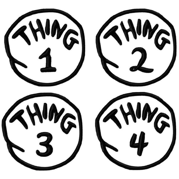 Thing 2 Logo. Printable. Free Printable ... | Dr seuss ...