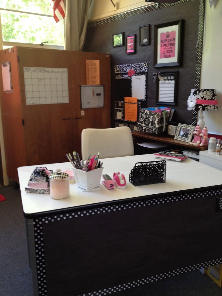 Classroom Workstation Ideas ~ The best ideas about teacher desk organization on